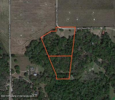 Dade City Residential Lots & Land For Sale: Chipco Ranch Road