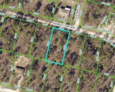 Weeki Wachee Residential Lots & Land For Sale: Scarlet Ibis Avenue