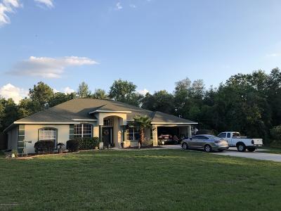 Weeki Wachee Single Family Home For Sale: 11929 Osprey Avenue