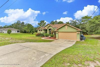 Weeki Wachee Single Family Home For Sale: 7327 Nightwalker Road