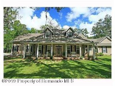 Brooksville Single Family Home For Sale: 3031 Crum Road