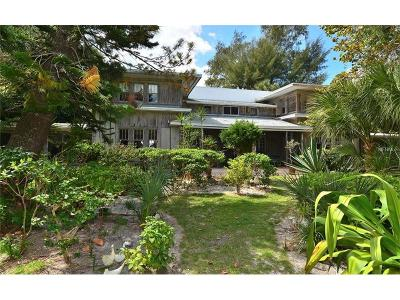 Osprey Single Family Home For Sale: 608 N Casey Key Road