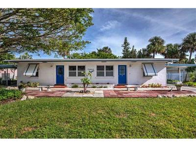 Holmes Beach Multi Family Home For Sale: 7901 Palm Drive #A and B