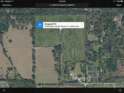 Parrish Residential Lots & Land For Sale: 14220 Gettis Lee Road