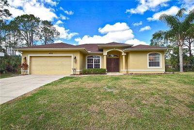 North Port Single Family Home For Sale: 4235 Cinderella Road