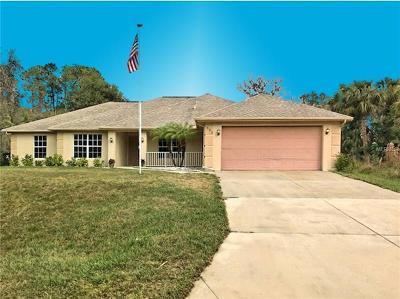 North Port Single Family Home For Sale: 1360 Franklin Lane