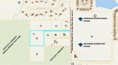 Lake Mary Residential Lots & Land For Sale: Markham Woods Road
