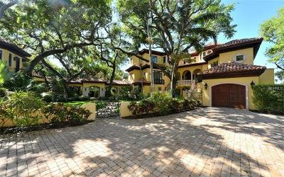 Sarasota FL Single Family Home For Sale: $6,250,000