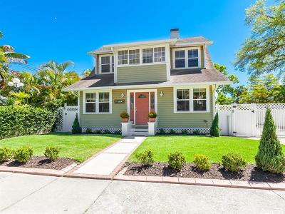 Sarasota Single Family Home For Sale: 1824 Oak Street