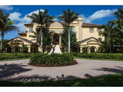 Sarasota FL Single Family Home For Sale: $4,000,000