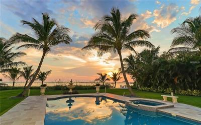 Sarasota FL Single Family Home For Sale: $7,495,000