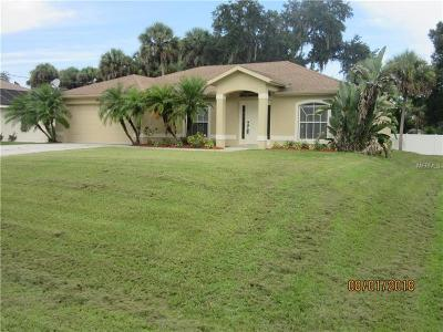 North Port Single Family Home For Sale: 4954 Beckham Street