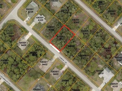 North Port Residential Lots & Land For Sale: Canoe Lane