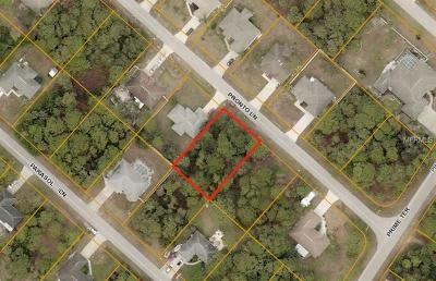 North Port Residential Lots & Land For Sale: Pronto Lane