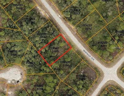 North Port Residential Lots & Land For Sale: Vanover Terrace