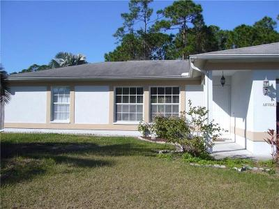 North Port Single Family Home For Sale: 2423 Dongola Street