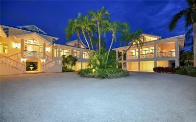 Longboat Key FL Single Family Home For Sale: $7,800,000