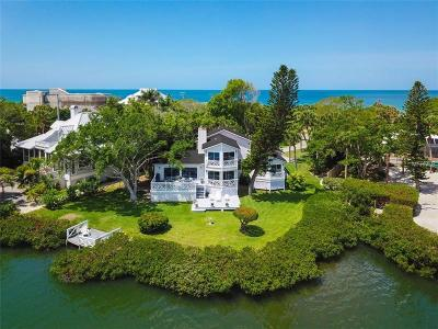 Osprey Single Family Home For Sale: 12 N Casey Key Road