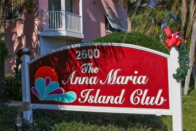 Anna Maria Island Club Condomin Condo For Sale: 2600 Gulf Drive N #18