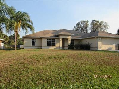 North Port Single Family Home For Sale: 3744 Monday Terrace