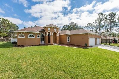 Weeki Wachee Single Family Home For Sale: 10122 Lazy Days Court