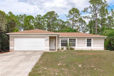 North Port Single Family Home For Sale: 4066 Roderigo Avenue