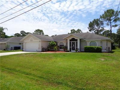 North Port Single Family Home For Sale: 4521 Amanda Avenue