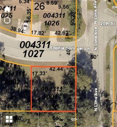 Sarasota Residential Lots & Land For Sale