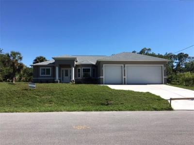 North Port Single Family Home For Sale: . Alger Street