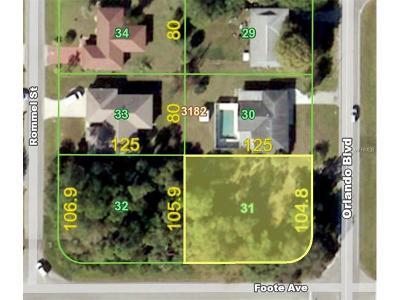Port Charlotte Residential Lots & Land For Sale: 1549 Orlando Boulevard