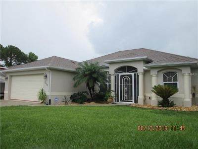 North Port Single Family Home For Sale: 7530 Tasco Drive