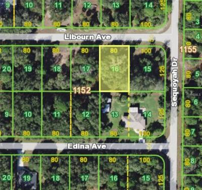 Port Charlotte Residential Lots & Land For Sale: 16125 Libourn Avenue
