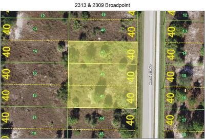 Punta Gorda Residential Lots & Land For Sale: 2313 & 2309 Broadpoint Drive