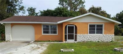 Port Charlotte Single Family Home For Sale: 19607 Midway Boulevard