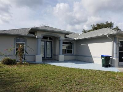 North Port Single Family Home For Sale: 2777 Cerullo Street