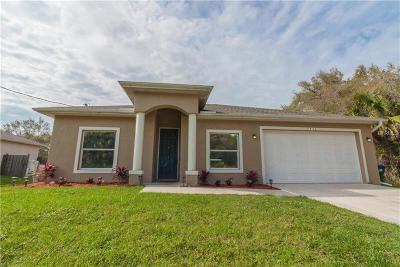 North Port Single Family Home For Sale: 5451 Halkett Terrace
