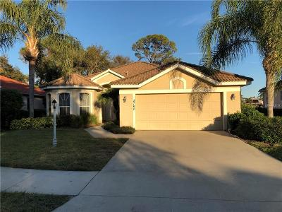 North Port Single Family Home For Sale: 2760 Royal Palm Drive