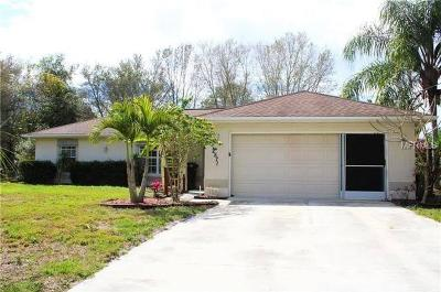 North Port Single Family Home For Sale: 2571 Carthage Street