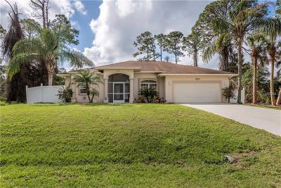 North Port Single Family Home For Sale: 1839 Norvell Avenue