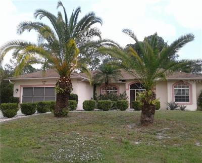 North Port Single Family Home For Sale: 3180 S Chamberlain Boulevard