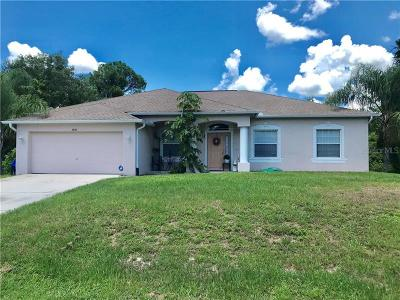 North Port Single Family Home For Sale: 3658 Donahue Avenue