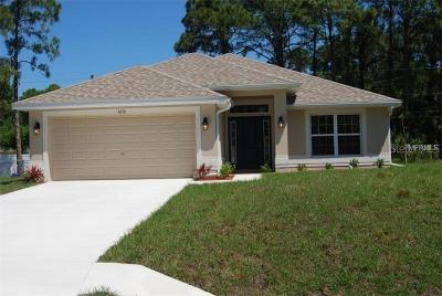 North Port Single Family Home For Sale: 0000 Yancy Street