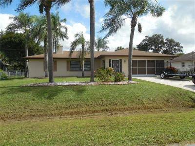 North Port Single Family Home For Sale: 3872 Suburban Lane
