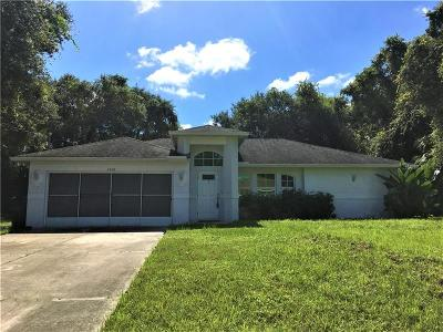 North Port Single Family Home For Sale: 3610 Wentworth Street