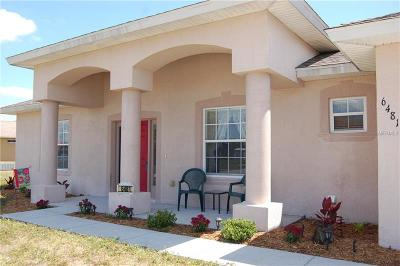 Port Charlotte Sec 93, Port Charlotte Sec 066, Port Charlotte Sec 095 Single Family Home For Sale: 6481 Thorman Road