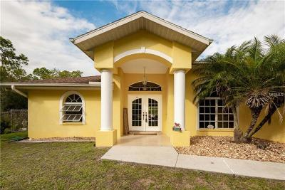 North Port Single Family Home For Sale: 3136 Tropicaire Boulevard