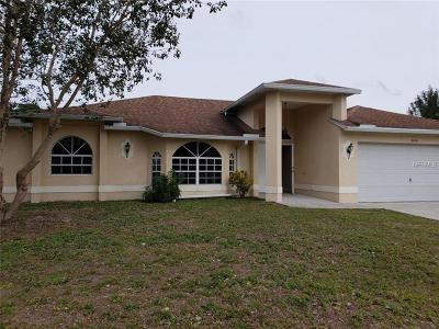 North Port Single Family Home For Sale: 4458 Targee Avenue