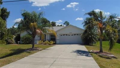 North Port Single Family Home For Sale: 2588 Atwater Drive