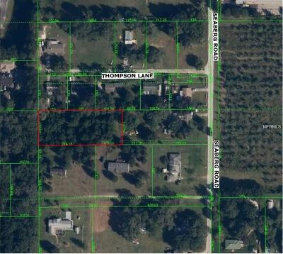 Zephyrhills Residential Lots & Land For Sale: 0 Seaberg Road