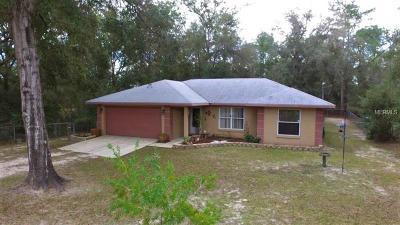 Citrus Springs Single Family Home For Sale: 2688 W Felton Lane